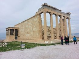 The Erechtheon with the Porch of the Maidens on the side. The Parthenon is under reconstruction - still amazing to see but the scaffolding doesn't make for pretty pictures. , Amy C - December 2012