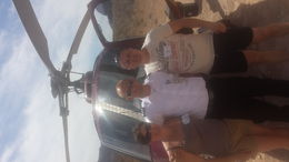 Photo of Las Vegas Grand Canyon All American Helicopter Tour harlan our pilot, where we landed in the canyon