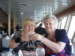 My sister Rena and friend Marion joining in the birthday celebrations , Pauline K - April 2014
