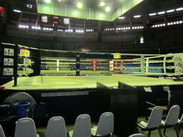 This is the ring, and I had a seat RIGHT UP FRONT! , Thurman - August 2012
