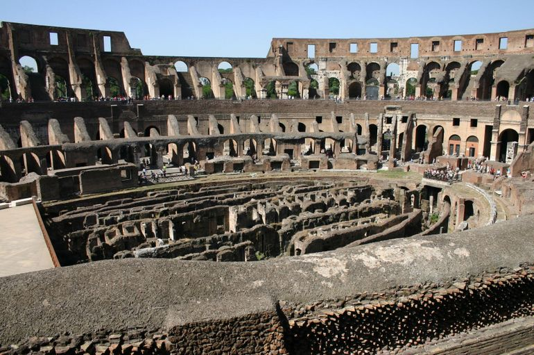 Inside the Colesseum - Rome