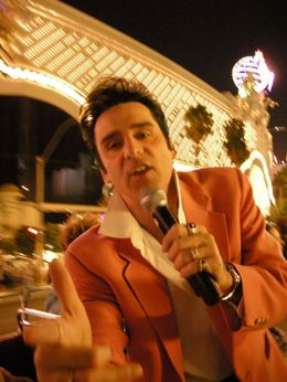 OK, this time he looks like a cross between Elvis and Cramer on Seinfeld., Jeff - February 2008
