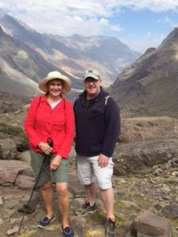 Brenda and Derek in February 2015 - The Andes, CHile , Brenda L - March 2015