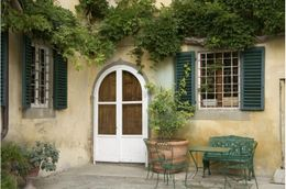 Photo of Florence Small-Group Tuscany Wine-Tasting Tour from Florence Courtyard of Sonnino