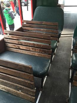Seats very unclean and very cold to sit on , Brooke J - December 2014