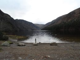 We took a walk to these two lakes past St. Kevin's, there were waterfalls, and birch trees and all of the beauty of nature. If you look in the distance you can see a huge waterfall pouring into the..., Erin C - February 2014