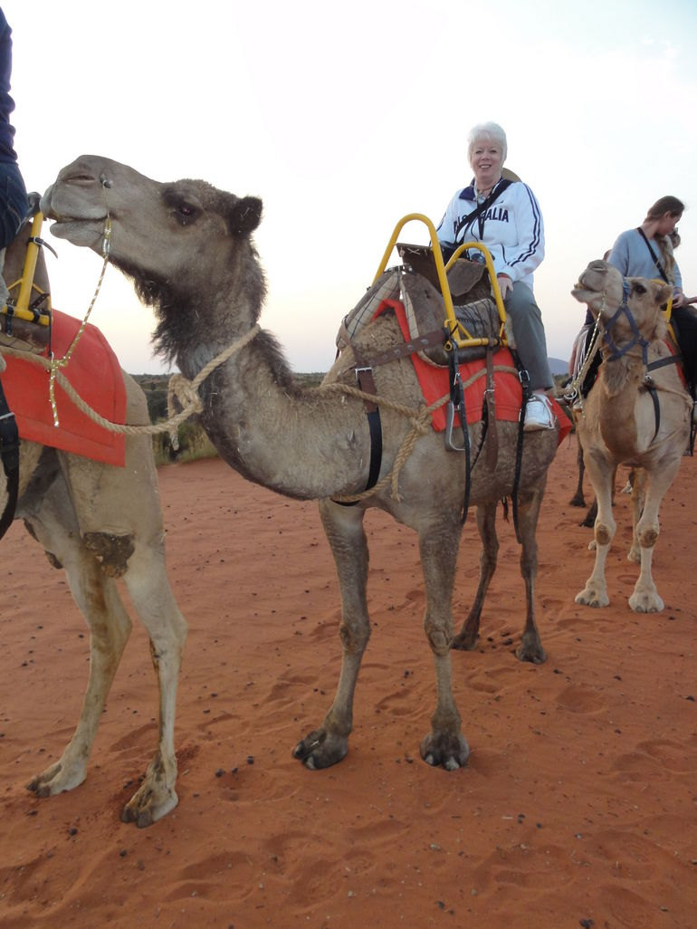 Anne and Trevor the camel - Ayers Rock