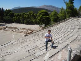 Theater of Epidaurus, world famous for its acoustics , Richard - September 2012