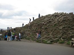 Another shot of people climbing on the Causeway. - September 2007