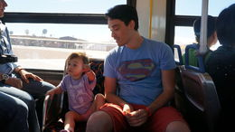 My sweet little niece enjoying her time on the shuttle to eagle point, Cutie Repolinos - October 2014