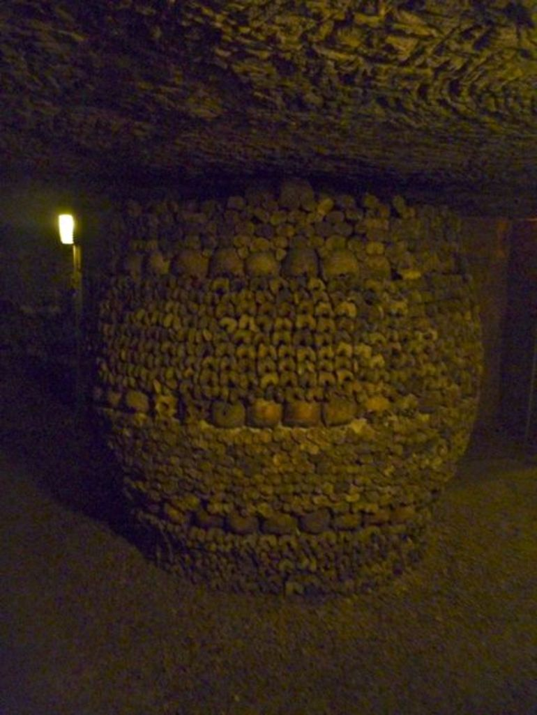 Inside the Catacombs - Paris