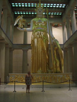 Gigantic Statue of Athena inside the Parthenon , clairemc - August 2011