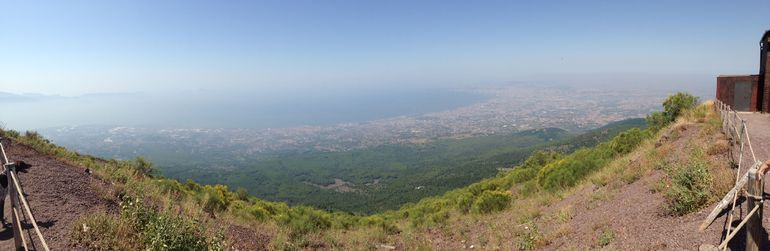 On top of Mt. Vesuvius overlooking Naples! - Rome