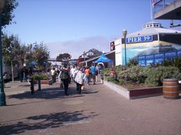 This is the entrance. The Pier is full of shops, restaurants and the famous sea lions. - June 2008