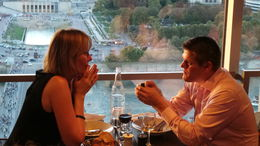Photo of Paris Eiffel Tower, Paris Cabaret Show and Seine River Cruise Popping the Question in the 58 Eiffel Tower Restaurant