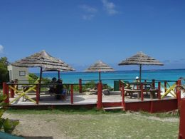 Great views of the water from the restaurant on Prickly Pear Island - September 2013
