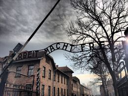 Photo of   The entrance to Auschwitz 1
