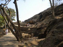 this is way from entrance of kanheri caves towards Caves , EXPLORE GLOBE - March 2012