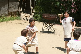 Here are the children practicing the drills in the arena , leesac143 - July 2014