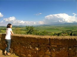 View of Pienza from Via Dell'Amore - August 2013