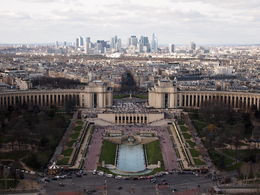 View of Trocadero and La Defense, Rachel - March 2014