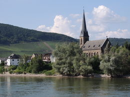 Photo of Rhine River KD Rhine Pass from Mainz Village on the Rhine