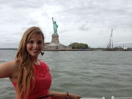 Alicia at the Statue of Liberty - June 2013