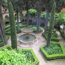 View of one of the interior gardens at the Alhambra. , Noelita - June 2013