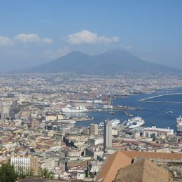 great spot on the tour to get a awesome view of Naples and Mt Vesuvius , Lisa M V - September 2014