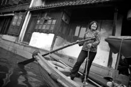 Photo of Shanghai Suzhou and Zhouzhuang Water Village Day Trip from Shanghai Gondola Driver in Zhouzhuang Water Village