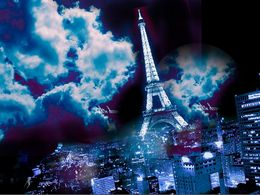 Photo of Paris Eiffel Tower, Seine River Cruise and Paris Illuminations Night Tour Hang gliding at night