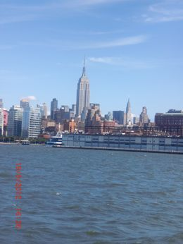 Veiw of Manhattan from the cruise tour around the Statue of Liberty , patricia k - October 2012