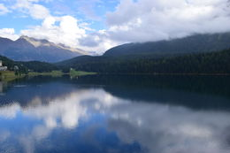 Lake on top of the mountain in St. Moritz. , Scott E - October 2014