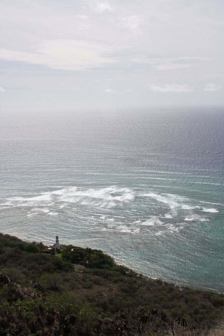 Lighthouse view at top of Diamond Head - Oahu