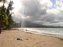 Photo of San Juan El Yunque Rainforest and Luquillo Beach from San Juan Luquillo Beach - sunrays