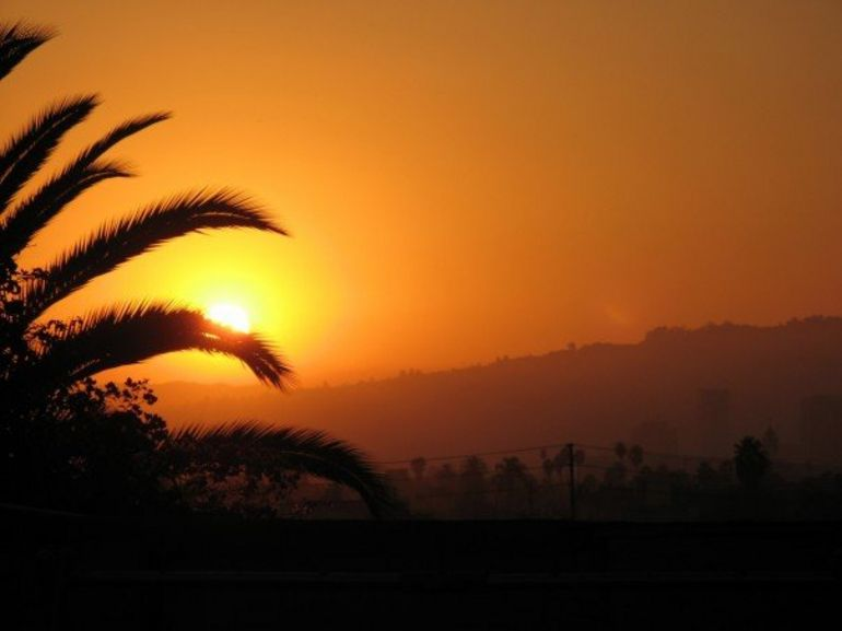 Sunset over Hollywood - Los Angeles