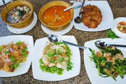 Assorted Thai dishes for dinner - June 2011