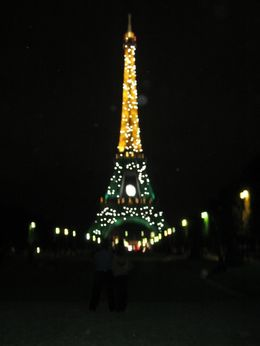 The Paris City Segway Night Tour stops in front of the Eiffel Tower and it sparkles., Frank S - September 2007