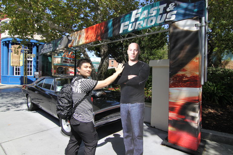 With VIn Diesel - AKA Dominic Toretto - Los Angeles