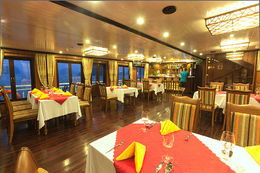 Photo of Hanoi 2-Day Halong Bay Luxury Junk Boat Cruise Including Cooking Class and Morning Tai Chi 5.gl_restaurant1_s.jpg