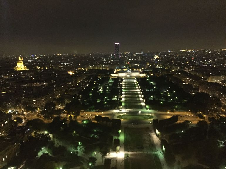 Stunning view from the Eiffel tower