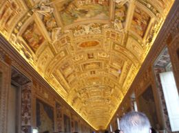 This gallery has a beautiful ceiling and maps of Rome going from South to North., Brian C - January 2008