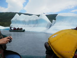 Photo of   Icebergs calved from Spencer Glacier