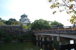 Osaka castle and bridge , Larisa M - September 2012