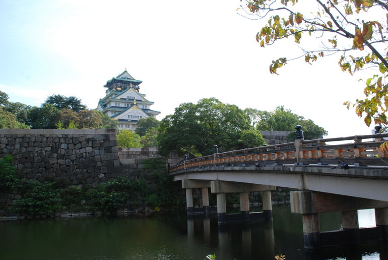 Osaka castle from the distance - Osaka