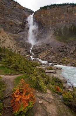 Takakkaw Falls in Yoho National Park. I found a place just off the path that avoided the convoy of people heading up to the falls. , Phill Clegg - July 2015
