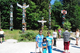 Photo of   Totem poles in Stanley Park