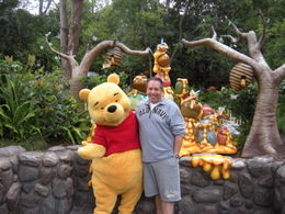 Photo of Los Angeles Disneyland or Disney's California Adventure with Transport from Los Angeles David & Winnie the Pooh