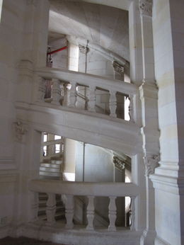 Photo of Paris Loire Valley Castles Day Trip: Chambord, Cheverny and Chenonceau Double Spiral Staircase at Chambord Chateau