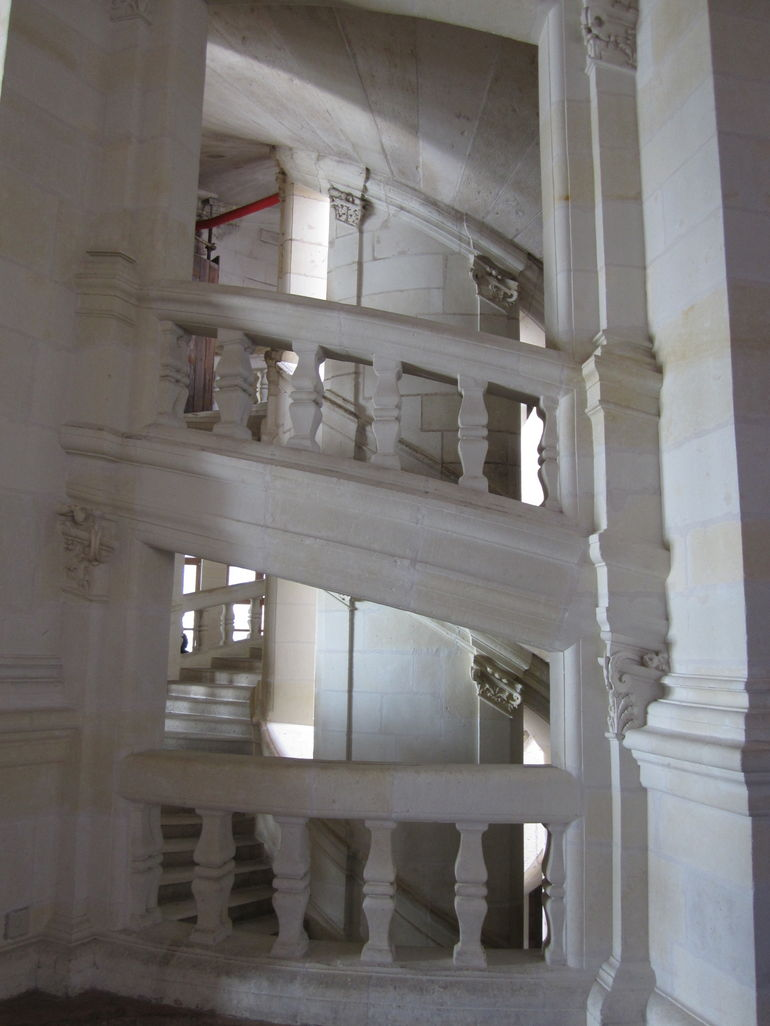 Double Spiral Staircase at Chambord Chateau - Paris